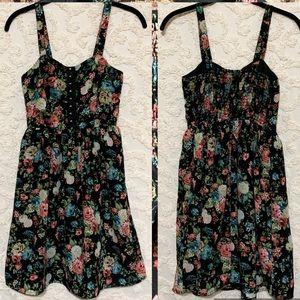 Floral Corset Dress w Pockets